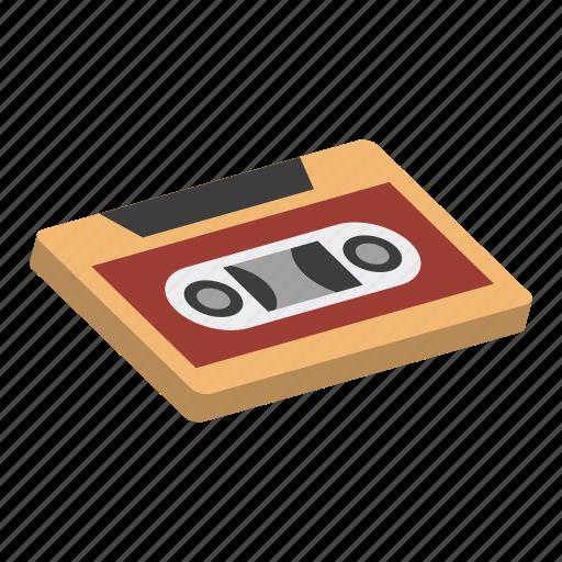 isometric, music, player, recorder, retro, stereo, tape icon