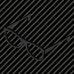 contemporary, eyesight, glasses, isometric, modern, object, optical icon