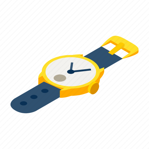 hour, isometric, minute, seconds, time, watch, wrist icon