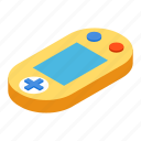 console, controller, fun, game, isometric, pad, stick icon