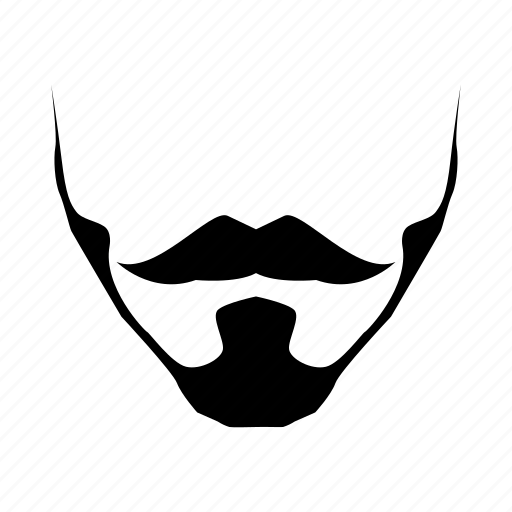 beard, fashion, hipster, male, man, mustache icon icon