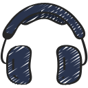 free, headphones, hipster, music, on trend icon