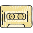 cassette, free, hipster, music, on trend icon