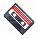 cassette, music, recording, retro, tape recorder icon