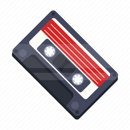 cassette, music, recording, retro, tape recorder icon