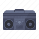 cassette, music, retro, tape recorder icon