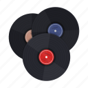 album, disc, music, retro, vinyl icon