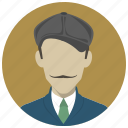avatar, cap, hipster, human, male, man, profile icon