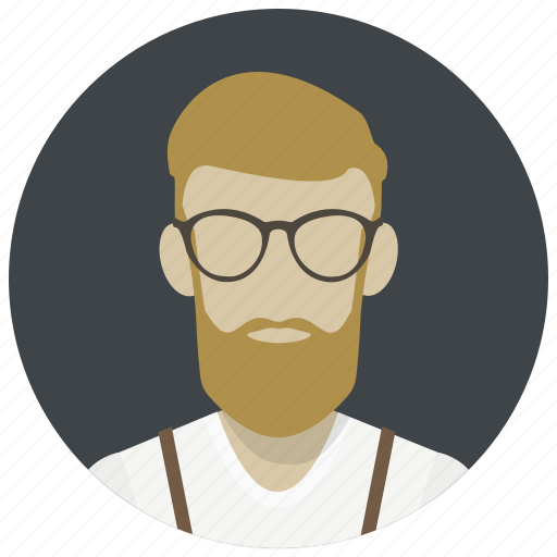 avatar, beard, hipster, human, male, man, person icon