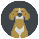 animal, avatar, dog, doggy, face, head, pet icon