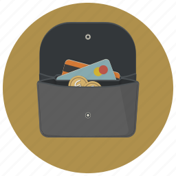 buy, creative, finance, money, payment, purse, wallet icon