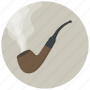 cigarette, hipster, pipe, smoke, tabacco, tabaco, tobacco pipe icon