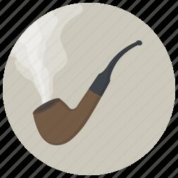 cigarette, hipster, pipe, smoke, tabacco, tabaco, tobacco pipe icon
