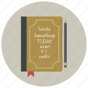 author, book, diary, notepad, novel, story, writer icon