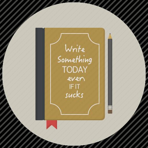author, book, diary, notepad, novel, story, writer icon