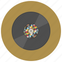 music, oldschool, play, record, sound, style, vinyl icon