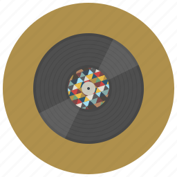 music, oldschool, play, record, sound, style, vinyl icon