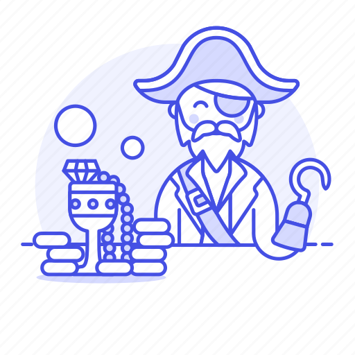 1, cup, gold, hat, history, hook, jewerly, loot, male, pirate, plunder, treasure, tricorne icon