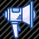 megaphone, advertising, loudspeaker, announce, promotion