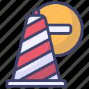 cone, cauntion, block, stop, traffic