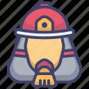 fireman, avatar, job, fire, fighter, head