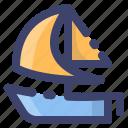 boat, sailing, sailboat, yacht