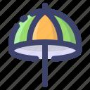 umbrella, beach, protection, summer