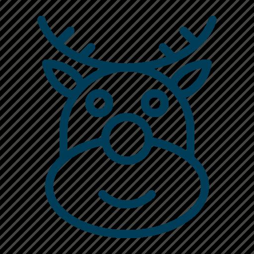 Animal, christmas, deer, reindeer, xmas icon - Download on Iconfinder