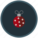 bauble, christmas tree, decoration, winter icon