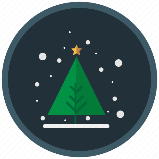 christmas, christmas tree, gifts, snow, winter icon