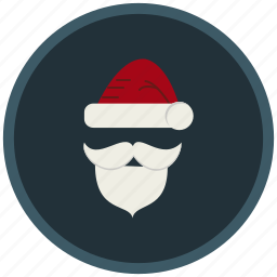 beard, christmas, face, gifts, hat, santaclaus icon