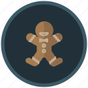 cake, christmas, cookie, decoration, gingerbread icon