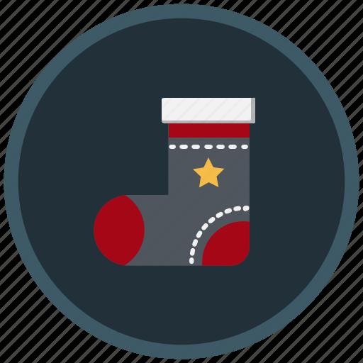 christmas, cloth, decoration, gift, socks icon
