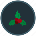 christmas, decoration, mistletoe, winter icon