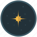 dark, light, night, sky, space, star icon