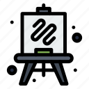 easel, hobbies, hobby icon