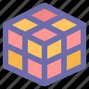 brain, cube, game, puzzle, rubik