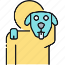 animal, animal care, animal caretaker, care, caretaker, dog, dog lover icon