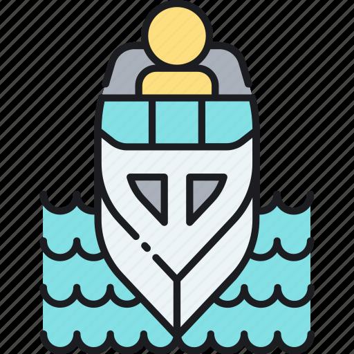 boat, boating, cruise, sail, ship, yacht icon