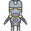building robot, iron man, robot, robotics, transformer icon