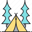 camp, campground, camping, campsite, tent, tentsite icon