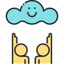 cloud, cloud watching, watching icon