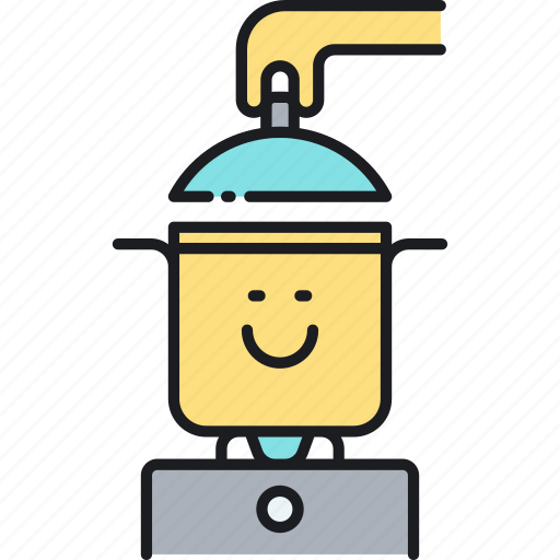 cook, cooking, hot pot, stove icon