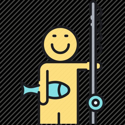fish, fishing, fishing rod icon