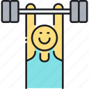 exercise, gym, weightlifter, weightlifting, workout icon