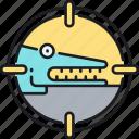 crocodile, herp, herping, reptile icon