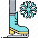 ice, ice skate, ice skating, skating icon