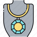 diamond, gem, gemstone, jewellery, jewelry, necklace icon
