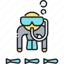diving, scuba, scuba dive, scuba diving icon
