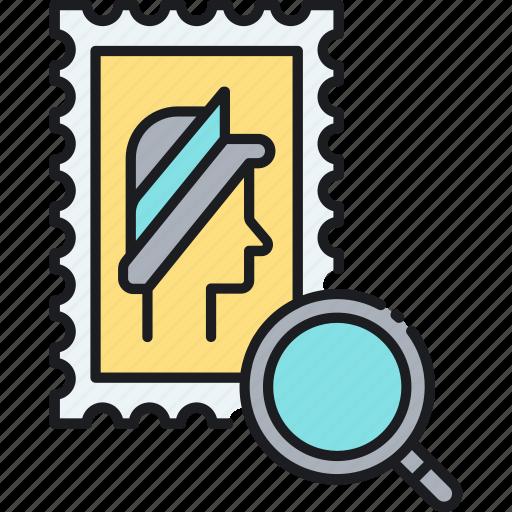 collector, stamp, stamp collector, stamps, stamps collector icon
